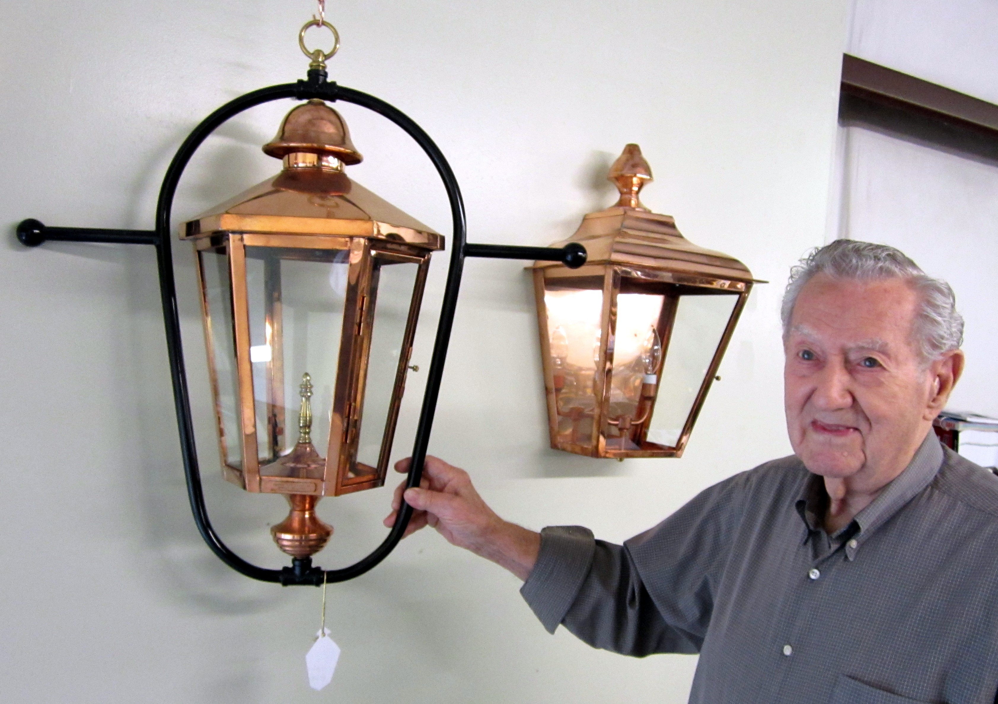 At ...  sc 1 st  William Bruce on Business & 90-Year Old Coppersmith Still Turning Out Lanterns | William Bruce ...