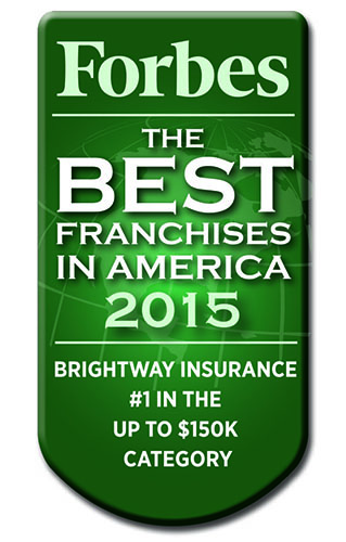 Brightway Insrance is Forbes Magazine top pick for franchises costing less than $150,000.